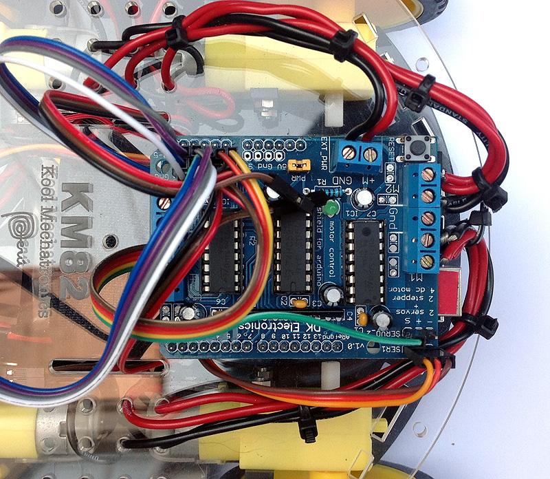 Conexiones motores y alimentación KM82